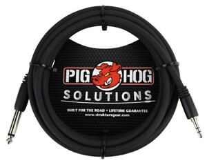 (2- Pack)  Pig Hog PX-35T4M  10 ft  1/8 inch TRS to 1/4 in Mono Cable