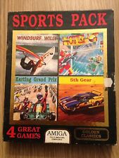 4 JEUX WINDSURF WILLY KARTING HOTSHOT 5th GEAR COMMODORE AMIGA COMPLET RARE