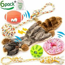 Small and Medium Dog Toys Set 6 Pack Chew Toys for Puppies