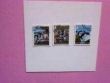 FALKLAND ISLANDS: 2013 Penguins Int'l Postcard Rate (65p) 3 values VFU Sg1277/79