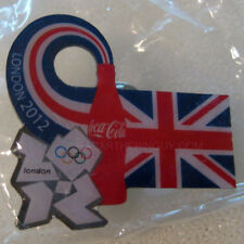 2012 London Summer Olympic Coca Cola Union Jack Dated Pin