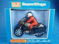 Die-cast MATCHBOX K-82 BMW MOTORCYCLE 1980 Superkings Motorbike Toy In Box