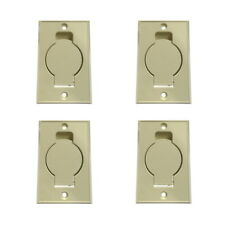 (4) Central Vacuum Wall Hose Inlet Almond Beige for BEAM - NEW
