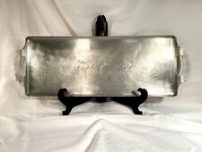VINTAGE 1940s RARE WENDELL AUGUST FORGE INC  ALUMINUM SERVING TRAY