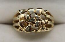 Vintage Estate 14K Yellow Gold Nugget-Style Ring Sz 11.5 (12.38g)