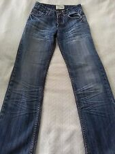 Energie Worn Out & Distressed Button Fly Blue Denim Jeans 28x32 Sharp!!