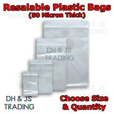 Small & Large Sealer Bags - Resealable Poly Polythene Zip Lock Plastic Bags Seal