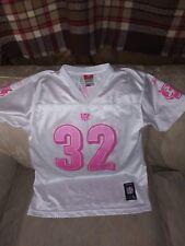df6c26829 Cincinnati Bengals NFL Women L Jersey White Pink Polyester R Johnson 32  Short.