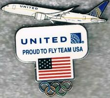 Nice 2016 Rio United Airlines White Plane USA Olympic Team NOC Sponsor Pin