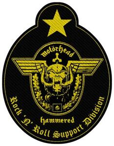 OFFICIAL LICENSED - MOTORHEAD - SUPPORT DIVISION CUT OUT SEW ON PATCH LEMMY