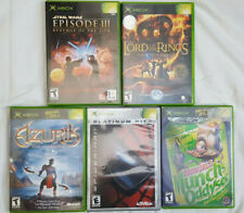 XBOX - Lot of 5 Adventure Games (Azurik, Spiderman, Oddworld, Star Wars, LOTR.)