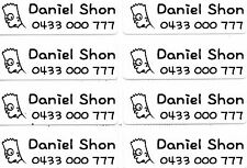 Large White Personalised IRON On Clothing Name Labels, Size 47x15mm