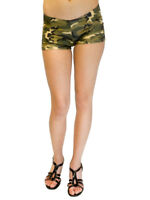 Vivian's Fashions Legging Boy-Shorts - Camouflage (Junior and Junior Plus Sizes)