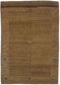 5X7 Tribal Modern Design Plush Brown Indo-Gabbeh Oriental Rug Carpet 4'7X6'7