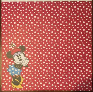 Minnie Mouse 12x12 Scrapbooking Paper ~ New