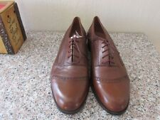 Bruno Magli Morgan Lace-Up Oxfords, Brown, Size 10.5M, Made in Italy, New