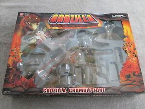 2003 BANDAI Crumble Zone NEW IN BOX! Godzilla Ghidorah Mothra Baragon RARE!