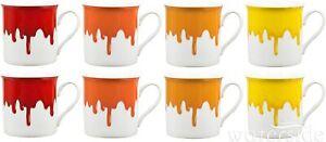 Waterside - 8 Piece Fine China Drip Glaze Mugs