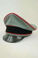 WWII German Waffen Elite Artillery officer Visor cap Gabardine made