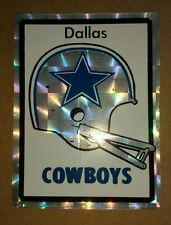 VINTAGE DALLAS COWBOYS NFL FOOTBALL PRISM PRISMATIC STICKER DECAL Super Rare