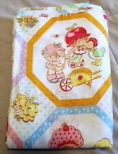 Strawberry Shortcake Twin Flat Bed Sheet American Greetings Vintage Huckleberry