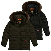 Superdry Jacket - Superdry Chinook Parka Jacket - Jet Black, Khaki - M5000009A