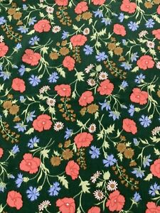 """1970s Stunning medium Weight  Fabric, """"poppy"""", ideal for, Upholstery Ect"""