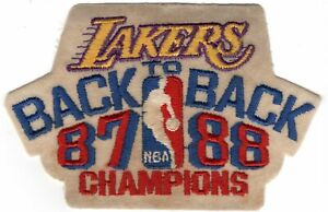 Los Angeles Lakers Vintage Back To Back 87/88 Champions 4.5x3 Collectible Patch