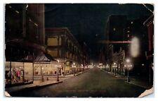 1912 Sixth Street at Night, St. Paul, Mn Postcard