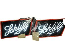 (2)New Vintage 1970 Schlitz Beer Man Cave Beer Bar Display Neon Light Signs.