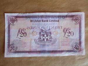ULSTER  BANK  £20 . MISPRINT, 2014 -  RARE   ERROR, PREFIX  L 9506877