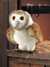 Folkmanis Barn Owl Hand Puppet Bird White Brown Tan Stuffed Animal 3yrs+ NEW