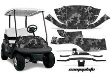 Club Car Precedent Golf Cart Graphic Kit Wrap Parts AMR Racing Decals Camo Black