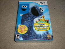New Wii Sesame Street Cookie Monster Cookie's Counting Carnival The Video Game