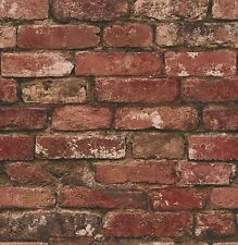 Fine Decor - FD31285 - Distinctive Brick / Stone Wallpaper - Rustic Red