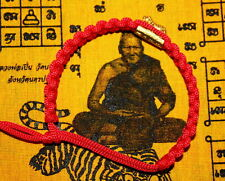 THAI AMULET BRACELET BAND LP PERN TIGER TWINS TRAKUD MUAY THAI MMA PROTECT LUCKY
