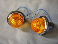 LUCAS TYPE L594 MINI INDICATOR AMBER LENS SIDE FLASHER PAIR