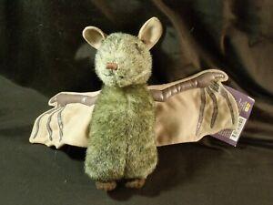 Bats at the Beach plush realistic bat plush library book pleather rare!