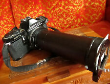 Pentax MV-1 35mm Film Camera Black Japan W/ Ohnar Zoom Reverser