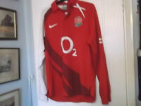 ENGLAND AWAY RUGBY UNION SHIRT NIKE MAKE SMALL SIZE