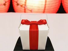 100 Small Chinese Take Out Wedding Favor Boxes - 1/2 pint - Wholesale Discount