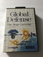 Global Defense Sega Master System Missing Manual 1988 Tested