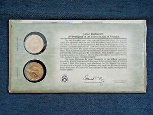 2010 James Buchanan Gold Plated Dollar - Philadelphia & Denver Mint Set
