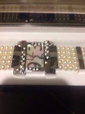 Pearl Watch Misaki White Pearls Wrist Watch. 80 Pearls !! Stunnig!!Made In Japan