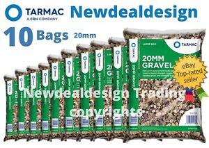 10 x BAGS OF 20MM GARDEN GRAVEL FOR EDGING DRIVEWAY PEA SHINGLE BULK MIX 25KG