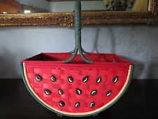 Watermelon Wood Weave Basket with Plastic Protector on Inside
