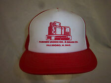 trucker hat baseball cap FARMERS UNION OIL GRAIN retro snapback cool mesh 1980