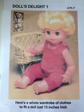 Knitting Pattern For Dolls Clothes ( Whole Wardrobe) In 4 Ply. See Details