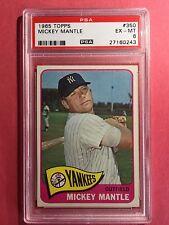 1965 Topps #350 Mickey Mantle PSA 6 HOF New York Yankees
