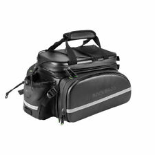 RockBros Bike Rack Bag Carbon Leather Rear Pack Trunk Pannier Waterproof Bag